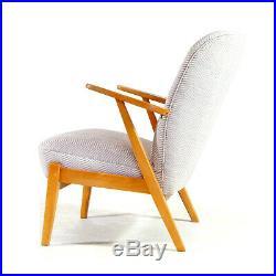 1 of 2 Retro Vintage Danish Easy Lounge Chair Armchair 50s 60s Mid Century Oak