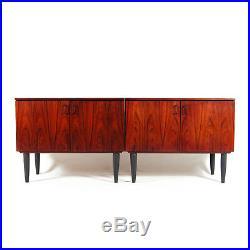 1 of 2 Retro Vintage Danish Rosewood Sideboard Cabinet 70s Mid Century Modern