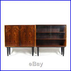 1 of 2 Retro Vintage Danish Rosewood Sideboard Display Cabinet 70s Mid Century