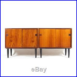 1 of 2 Retro Vintage Danish Rosewood Sideboard Hi-Fi Cabinet 60s 70s Mid Century