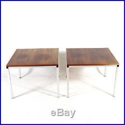 1 of 2 Retro Vintage Danish Rosewood Steel Side Coffee Table 60s 70s Mid Century