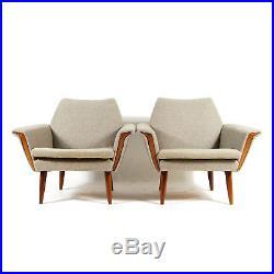 1 of 2 Retro Vintage Danish Teak Easy Lounge Chair Armchair Mid Century 50s 60s