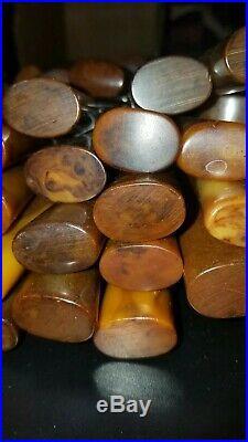 100 Pieces Midcentury Bakelite Handle Stainless Steel Flatware Swirl