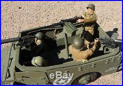12 Inch 1/6 Ultimate Soldier GIJoe M3 Armored Scout Car & 4 Soldiers & Equipment