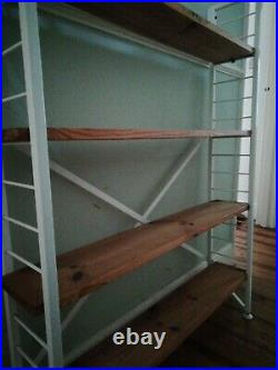 130cm x 20cm Mid Century Vintage LADDERAX Shelving Supports 2 Pairs Available