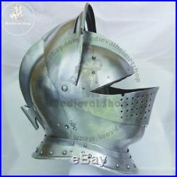 18GA SCA LARP Medieval Knight Tournament Close Armor Helmet