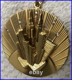 18k Tiffany & Co. Best Ever New York City Gold And Diamond Pendent Charm Rare