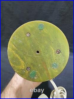 1930's Art Deco Catalin Swirled Green Bakelite with Butterscotch Table Lamp