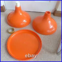 1960s 1970s orange plastic stool. Robur Sgabello Americano 5600, Italian retro