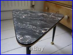 1960s ATOMIC TRIANGULAR SIDE / COFFEE TABLE mid century vintage retro 50s 70s