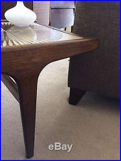 1960s Danish Dark Teak Tiled Coffee Table Mid Century ...