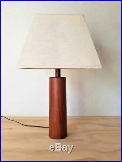 1960s Danish Modern Table Lamp Teak VTG Mid Century Eames Vintage Retro