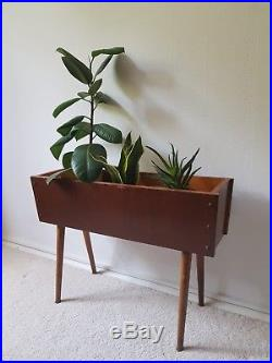 1960s Plant Stand Mid Century Danish Modern Planter Holder Vintage Eames Retro