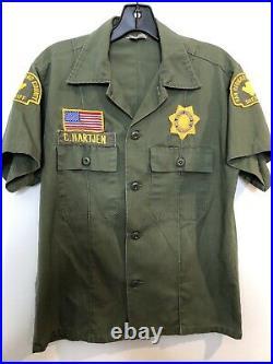 1960s San Bernardino County Sheriff Obsolete Vintage Uniform Shirt Los Angeles