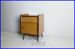 1960s mid century formica bedside cabinet