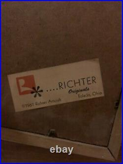 1961 Richter Originals Mid Century Modern 3D Wall Art