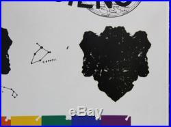1965 Vintage JIM DINE Pencil Signed ART IN SCIENCE Poster Silkscreen Print, NR