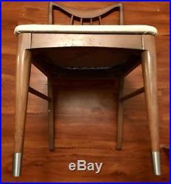2 Mid Century Vintage Keller Desk Table Chairs Retro Danish Wood Atomic Dowel