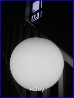 2 x Opaline Glass Globe PENDANT LIGHTS Huge 10 Dia Vintage, Retro