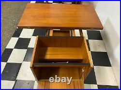 2x vintage mid century retro teak coffee side tables Mcintosh Tristor Delivery