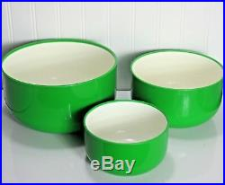 3 pc. Kartell by Anna Castelli Green White Bowls Nesting Mixing Bowl Set MINT