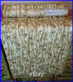 3 rolls original bamboo tiki hawaii Wallpaper Vintage/Retro mid century Pattern
