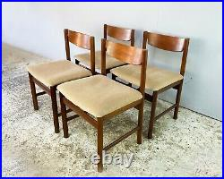 4 x 1960s mid century dining chairs by White and Newton