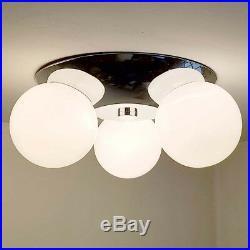 437b 70's Vintage Ceiling Light Lamp Fixture midcentury eames mod retro chrome