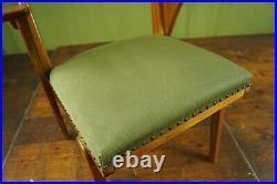 50er Vintage Stuhl Schreibtisch Lehnstuhl Retro Armlehnstuhl Mid-Century Holz