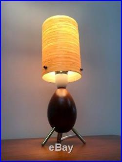 50s rare original atomic rockabilly tripod table lamp vintage retro mid century