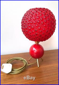 50s rare original atomic rockabilly tripod table lamp vintage retro mid century