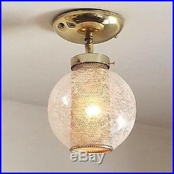 538 Vintage 50s 60s Ceiling Light glass Fixture Mid-Century retro eames
