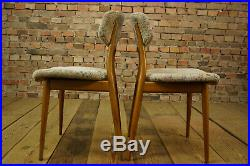 60er 4x Vintage Stühle Danish Modern Retro Stuhl Mid Century Esszimmer Set 50er