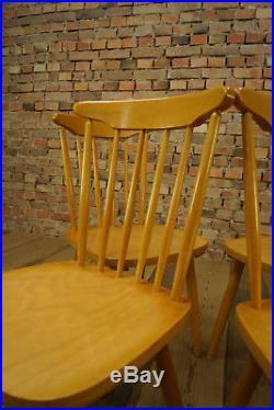 60er Tapioavaara Ära 4x Esszimmer Stühle Vintage Stuhl Retro Stühle Mid-Century