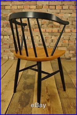 60er Teak Vintage Stuhl Danish Tapiovaara Armlehnstuhl Sessel Retro Mid-Century