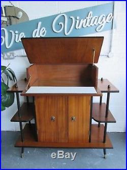 60s 70s Mid Century Retro Vintage Cocktail Drinks Cabinet Bar Teak Sideboard
