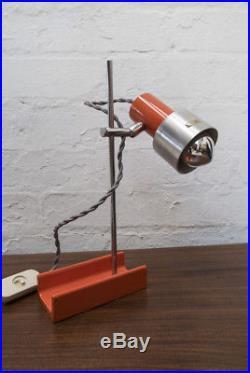 60s Orange Lamp by Harvey Guzzini Mid Century Vintage Retro