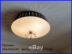 622b 60s 70s Vintage Ceiling Light Lamp Fixture atomic midcentury eames retro