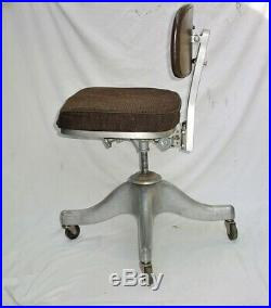 70's Vintage SHAW WALKER Desk CHAIR Mid Century Retro Industrial Aluminum Chair