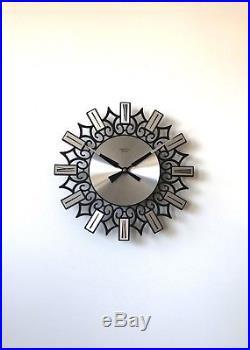 70s Stylish Vintage Retro Mid Century Eurastyle wall clock
