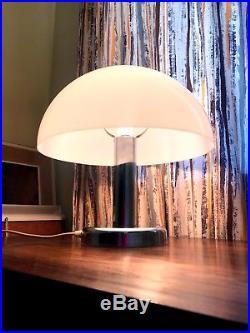 70s original vintage retro Mid Century Space Age Guzzini style Chrome table lamp