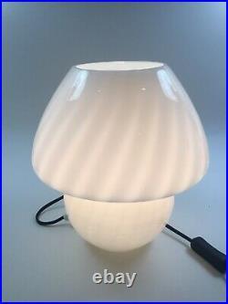 A Vintage Cased Glass West German Peill & Putzler Table Lamp Retro Mushroom Form