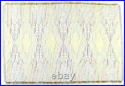 A modernist Scandinavian Rya rug Green & yellow Abstract 1960's 1970's 150 cm