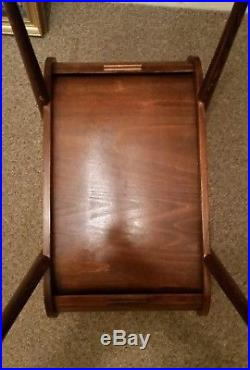 A rare vintage mid century wooden roll top sewing craft hobby box 50s 60s retro