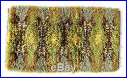 A small vintage Scandinavian rya rug Danish / Swedish