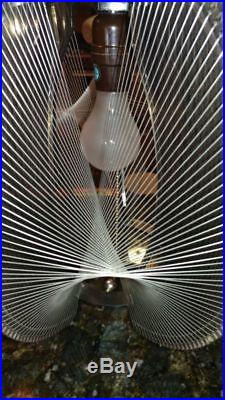 AWESOME Retro Vintage Mid Century Lucite String Wires Hanging Ceiling Swag Lamp