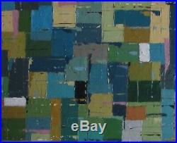 Abstract Oil Painting 70s 80s Mid-Century Modern Vintage Retro Cornish