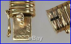 Amazing Vintage Retro Mid Century 18K Gold Flex Snake Collar Omega Necklace 1949