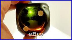 Antique 1930s Old Amber Bakelite Block Dice Faturan Green Orange 185 Gr