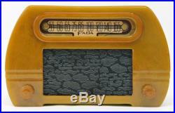 Antique 1945 Art Deco FADA 652 Catalin Radio, Butterscotch Bakelite, NR
